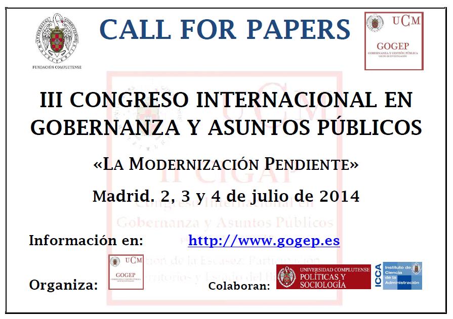 Congreso Internacional en Gobernanza y Asuntos Públicos
